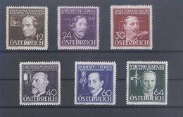 AUSTRIA - 1936, Inventors   - Mi. 632/37 - Yv. 489/94 Serie Cpl. 6v. Nuovo* - Nuovi