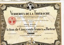 02-VERRERIES DE LA THIERACHE. NOUVION En THIERACHE. DECO - Shareholdings