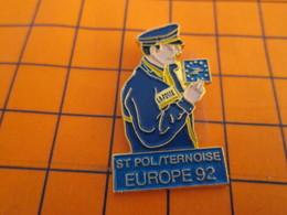 1214b Pin's Pins / Belle Qualité Et Rare / THEME POSTES : LA POSTE FACTEUR PREPOSE ST POL / TERNOISE EUROPE 92 - Postes