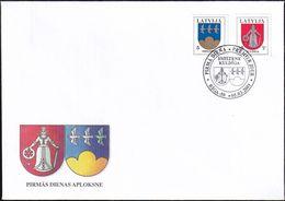 LETTLAND 2001 Mi-Nr. 541/42 FDC - Latvia