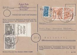 Berlin / 1950 / Zusammendruck Mi. S 1 Und Kehrdruck Mi. SK 2 Auf Postkarte (AC84) - [5] Berlin