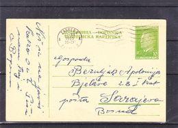 Yougoslavie - Carte Postale De 1953 - Entier Postal - Oblit Zagreb - Exp Vers Sarajevo - Marechal Tito - Brieven En Documenten