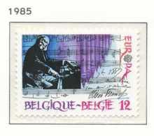 D - [152484]TB//**/Mnh-[2175] Belgique 1985, EUROPA-CEPT 1985, Année De La Musique, Compositeur, Piano, SNC - Musik