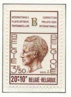 D - [151001]SUP//**/Mnh-[1635] Belgique 1972, Baudouin (Elstrom), BELGICA 72, Exposition Philatélique Au Heysel, SNC - Philatelic Exhibitions