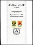 BRD - 1978 ETB 17/1978 - Mi 980 / 981 - 40/50Pf                 Tag Der Briefmarke 78 - [7] República Federal