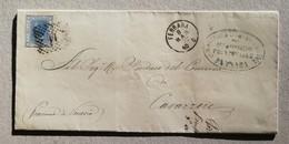 Scritto Ferrara-Cavarzere - 08/03/1872 Timbro Italia-Lombardo Veneto - 1861-78 Vittorio Emanuele II