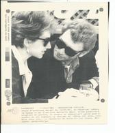 TELEX AFP   JOHNNY HALLYDAY ET NATHALIE BAYE   6 /3 / 1986 - Célébrités