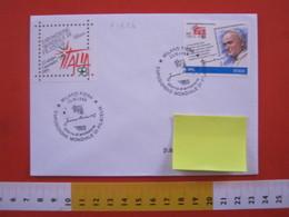 A.13 ITALIA ANNULLO 1998 MILANO FIERA ESPOSIZIONE MONDIALE FILATELIA PAPA GIOVANNI PAOLO II AUTOGRAFO FIRMA '98 - Esposizioni Filateliche