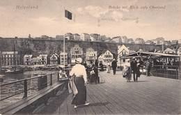 HELGOLAND - BRÜCKE MIT BLICK AUFS OBERLAND 1919 /ak385 - Helgoland
