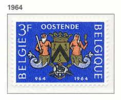 D - [150240]SUP//**/Mnh-[1285] Belgique 1964, Armoiries De La Ville D'Ostende, Neptune, SNC - Stamps