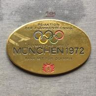 Medal Plaque Plakette PL000107 - Olympics Germany München (Munich) 1972 - Olympische Spiele