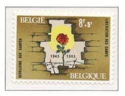 D - [150337]SUP//**/Mnh-N° 1332, Libération Des Camps (1940-1945), Rose, SNC - Belgio