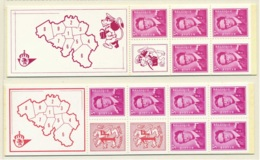 D - [150643]SUP//**/Mnh-c:19e-B1/2, Carnets 1F Lion Héraldique Et 3F Marchand, SNC - Booklets 1953-....