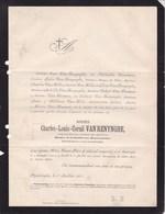 POPERINGHE POPERINGE VAN RENYNGHE Charles-Louis 1803-1871 Burgemeester Député VERCAMER VAN HILLE VAN WOUMEN - Overlijden