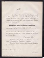 BERLEGHEM BERLEGEM D'EVORA Y VEGA Charles-Frédéric Marquis De RODE Sénateur Senator 79 Ans 1868 D'ANDELOT De SPANGEN - Décès