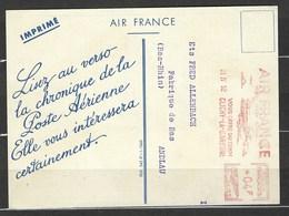 France - Aviation - Carte Publicitaire Air France - Avec EMA Rouge - - Marcofilia (sobres)