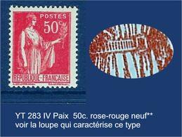 """FR YT 283 IIB """" Paix 50c. Rose-rouge"""" 1933 Neuf** Voir Le Scan - 1932-39 Paix"""