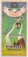 Brochure Dépliant Faltblatt Toerisme Tourisme - La Route Des Pyrénées - Ca 1950 - Folletos Turísticos