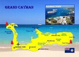 Cayman Islands Grand Cayman Map New Postcard Landkarte AK - Kaimaninseln