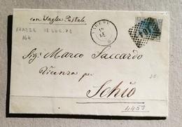 Busta Di Lettera Varese-Schio Con Vaglia Postale - 18/07/1871 - 1861-78 Vittorio Emanuele II