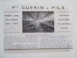 LYON - SOIERIE Veuve GUERIN & Fils   - Coupure De Presse De 1924 - Historische Documenten