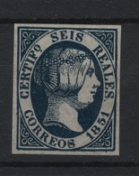 R04/ ISABEL II, S/D, ESPAÑA (FANTASIA) NUEVO**, FALSO - Unused Stamps