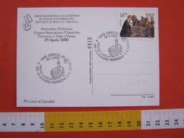 A.13 ITALIA ANNULLO 2000 CANDELO BIELLA CHIESA PARROCCHIA S. PIETRO ARCHITETTURA DISEGNO SPACCATO - Cristianesimo
