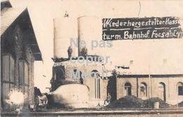 Focșani - Wiederhergestellter Wasserturm Mit Bahnhof  - 1917 - Romania