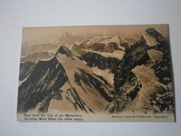 Suisse. View From The Top Of The Matterhorn Showing Mont Blanc. Vue Du Mont Blanc Depuis Le Sommet Du Mont Cervin (8547) - VS Wallis