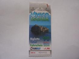 """Biglietto Giornaliero Usato  """"UNICO ISCHIA 2012"""" - Bus"""