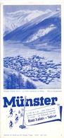 Brochure Dépliant Faltblatt Toerisme Tourisme - Münster - Haut Valais Suisse - 1938 - Tourism Brochures