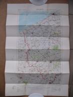 Carte Entoilée Anglaise WWI Ostende Belgique Belgium Furnes Ypres Dixmude Poperinghe Nieuport Bailleul Coxyde La Panne - Dokumente