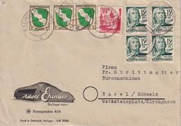 ALLEMAGNE 1947 ZONE FRANCAISE LETTRE DE BALINGEN - Zona Francese