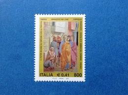 2001 ITALIA MASACCIO AFFRESCO S PIETRO CAPPELLA BRANCACCI FIRENZE FRANCOBOLLO NUOVO ITALY STAMP NEW MNH** - 6. 1946-.. Republic