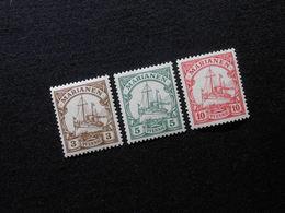 D.R.Mi 7-9 - 3/5/10Pf**MNH - Deutsche Kolonien ( Marianen ) 1901  Mi 7,50 € - Kolonie: Marianen