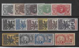 1906 - PALMIERS FAIDHERBE BALLAY - DAHOMEY - SERIE COMPLETE * MH CHARNIERE CORRECTE - COTE = 738 EUR. - 1906-08 Palmiers – Faidherbe – Ballay