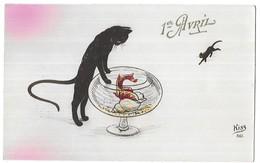 1er Avril - Poisson D' Avril Chats Noir Aquarium Kiss 861 - April Fool's Day