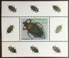 Botswana 2003 Beetles Insects Minisheet MNH - Insetti