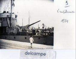 """Photo - Ile De Ré -  Navire De Guerre -  AVISO  """" L' IMPETUEUSE """"  1934 - Bateaux"""