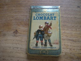 Carnet Publicitaire Tole Litographiee Chocolat Lombart 1913 - Chocolade