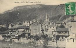 CARTE POSTALE ORIGINALE ANCIENNE : BORT LES ORGUES VUES DU PONT CORREZE (19) - France