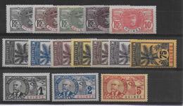 1906 - PALMIERS FAIDHERBE BALLAY - GUINEE - SERIE COMPLETE  * MH CHARNIERE CORRECTE  - COTE = 237 EUR. - 1906-08 Palmiers – Faidherbe – Ballay
