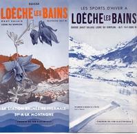 Brochure Dépliant Faltblatt Toerisme Tourisme - Loèche Les Bains - Zwitserland  Suisse Schweiz - Ca 1950 - Tourism Brochures