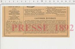 2 Scans 1892 Capitaine Frauget Gouverneur De Fontarabie Soupe Au Sagou Au Vin Ecrevisses Au Court-bouillon Foin Feu222R1 - Old Paper