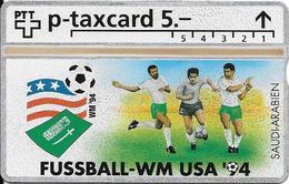 Switzerland: PTT KP-94/6V 525L Fussball WM94 - Saudi-Arabien - Svizzera