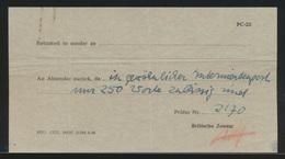 Interniertenpost Kriegsgefangenen Beizettel Britischer Zensur  - Stamps