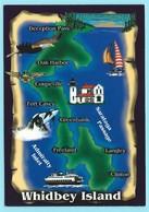 0580 - USA - WASHINGTON - WHIDBEY ISLAND - MAP - Cartes Postales