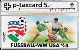 Switzerland: PTT KP-94/6S 503L Fussball WM94 - Mexiko - Svizzera
