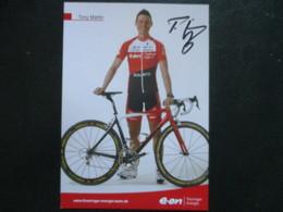 Cyclisme Photo Signee Tony Martin - Cyclisme