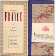 Carte De France - 12 Itinéraires - - Cartes Routières